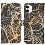 iMoshion Coque silicone design iPhone 11 - Golden Leaves