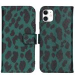 iMoshion Coque silicone design iPhone 11 - Green Leopard