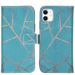 iMoshion Coque silicone design iPhone 11 - Blue Graphic