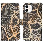 iMoshion Coque silicone design iPhone 12 Mini - Golden Leaves