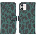 iMoshion Coque silicone design iPhone 12 Mini - Green Leopard