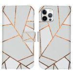 iMoshion Coque silicone design iPhone 12 (Pro) - White Graphic