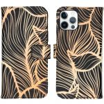 iMoshion Coque silicone design iPhone 12 (Pro) - Golden Leaves