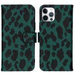 iMoshion Coque silicone design iPhone 12 (Pro) - Green Leopard