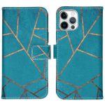 iMoshion Coque silicone design iPhone 12 (Pro) - Blue Graphic