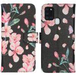iMoshion Coque silicone design Galaxy A21s - Blossom Watercolor Black