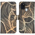 iMoshion Coque silicone design Samsung Galaxy A21s - Golden Leaves