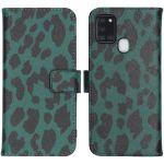iMoshion Coque silicone design Samsung Galaxy A21s - Green Leopard