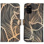 iMoshion Coque silicone design Samsung Galaxy A41 - Golden Leaves