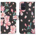 iMoshion Coque silicone design Galaxy A71 - Blossom Watercolor Black