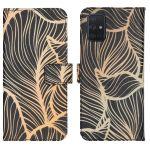 iMoshion Coque silicone design Samsung Galaxy A71 - Golden Leaves