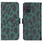 iMoshion Coque silicone design Samsung Galaxy A71 - Green Leopard