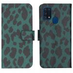 iMoshion Coque silicone design Samsung Galaxy M31 - Green Leopard