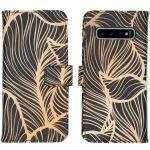 iMoshion Coque silicone design Samsung Galaxy S10 - Golden Leaves