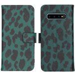 iMoshion Coque silicone design Samsung Galaxy S10 - Green Leopard