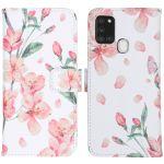 iMoshion Coque silicone design Galaxy A21s - Blossom Watercolor White