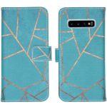 iMoshion Coque silicone design Samsung Galaxy S10 - Blue Graphic