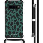iMoshion Coque Design avec cordon Samsung Galaxy S10 - Léopard - Vert