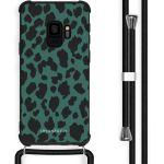 iMoshion Coque Design avec cordon Samsung Galaxy S9 - Léopard - Vert