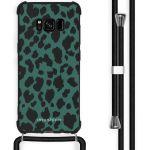 iMoshion Coque Design avec cordon Samsung Galaxy S8 - Léopard - Vert