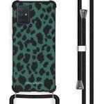 iMoshion Coque Design avec cordon Samsung Galaxy A71 - Léopard - Vert