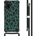 iMoshion Coque Design avec cordon Samsung Galaxy A41 - Léopard - Vert