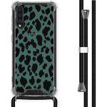iMoshion Coque Design avec cordon Samsung Galaxy A50 - Léopard - Vert