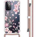 iMoshion Coque Design avec cordon Samsung Galaxy A72 - Fleur - Rose