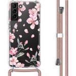 iMoshion Coque Design avec cordon Galaxy S21 Plus - Fleur - Rose
