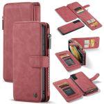 CaseMe Étui luxe 2-en-1 à rabat Samsung Galaxy S21 - Rouge