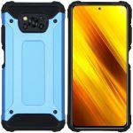 iMoshion Coque Rugged Xtreme Xiaomi Poco X3 - Bleu clair