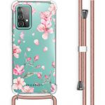 iMoshion Coque Design avec cordon Galaxy A52 5G/A52 4G - Fleur - Rose