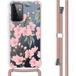iMoshion Coque Design avec cordon Galaxy A72 - Fleur - Rose / Vert