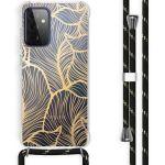 iMoshion Coque Design avec cordon Galaxy A72 - Feuilles - Dorée