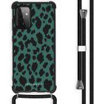 iMoshion Coque Design avec cordon Galaxy A72 - Léopard - Vert / Noir