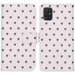 iMoshion Coque silicone design Galaxy A51 - Hearts Allover White