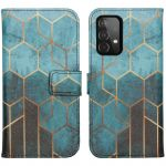 iMoshion Coque silicone design Samsung Galaxy A72 - Green Honeycomb