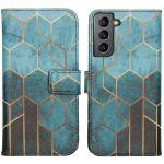 iMoshion Coque silicone design Samsung Galaxy S21 - Green Honeycomb