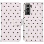 iMoshion Coque silicone design Galaxy S21 - Hearts Allover White