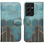 iMoshion Coque silicone design Galaxy S21 Ultra - Green Honeycomb