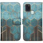 iMoshion Coque silicone design Galaxy A21s - Green Honeycomb