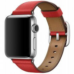 Apple Leather Band Buckle Apple Watch Series 1-7 / SE - 38/40mm - Rouge