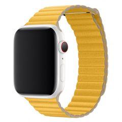 Apple Leather Loop Apple Watch Series 1-7 / SE 42/44mm - Jaune