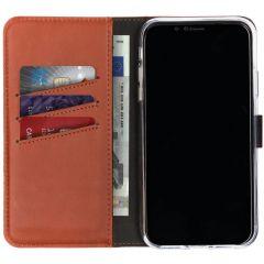 Selencia Étui de téléphone en cuir véritable iPhone Xr