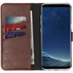 Selencia Étui de téléphone en cuir véritable Samsung Galaxy S8