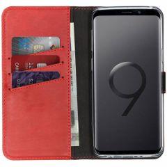Selencia Étui de téléphone en cuir véritable Samsung Galaxy S9