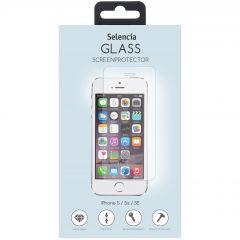 Selencia Protection d'écran en verre durci iPhone SE / 5 / 5s