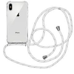 iMoshion Coque avec cordon iPhone Xs / X - Blanc Argent