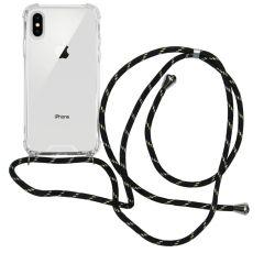 iMoshion Coque avec cordon iPhone Xs / X - Noir Dorée