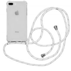 iMoshion Coque avec cordon iPhone 8 Plus / 7 Plus - Blanc Argent